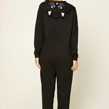 Hooded Cat PJ Jumpsuit