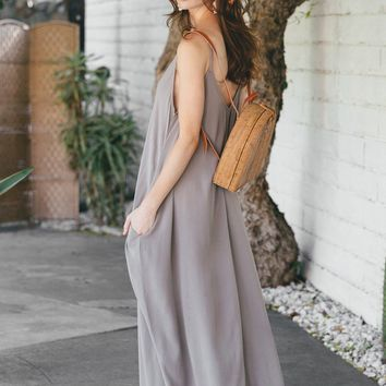 Taryn Grey Relaxed Maxi Dress