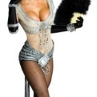 Secret Wishes Womens Marilyn Monroe Showgirl Costume, Silver, Small