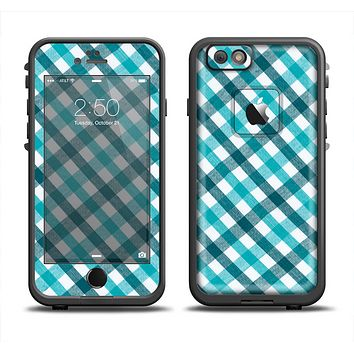 The Vintage Blue & Black Plaid Apple iPhone 6 LifeProof Fre Case Skin Set