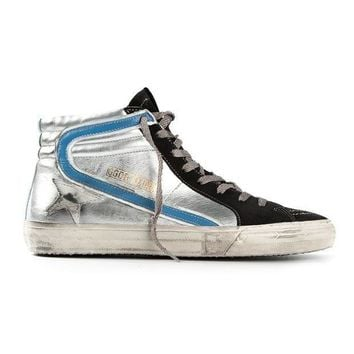 Golden Goose Deluxe Brand Distressed Hi Top Sneakers