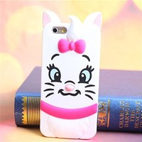 """Topit Iphone 6 Plus 5.5"""" Cute Cartoon 3d Blue Monster Jump Tigger Series Soft Silicone Back Cases Covers for Apple Iphone 6 Plus 5.5 Inch Release on 2014 + 1 Pcs Wristband (Blue monster)"""