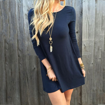 Deep Blue Long Sleeve Sweater