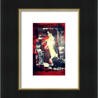 Horse In The Old Red Barn Framed Print By Pius Kendakur