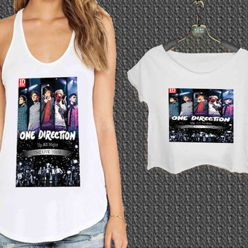one direction live tour For Woman Tank Top , Man Tank Top / Crop Shirt, Sexy Shirt,Cropped Shirt,Crop Tshirt Women,Crop Shirt Women S, M, L, XL, 2XL**