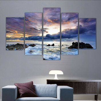 modern living room bedroom wall decor home decor Ocean seascape Wall Art Picture print Painting on Canvas printed art /PT0204