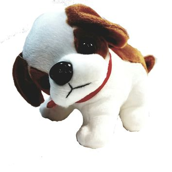 "National Plush Brown & White Plush Puppy Dog 10"" Cute Toy"