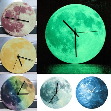3D Luminous Large Moon Fluorescent Wall Sticker Removable Glow In The Dark Stick superior