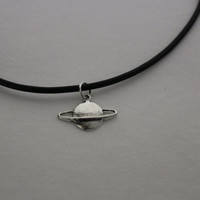 Planet Charm Choker Necklace