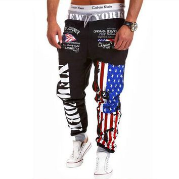 New Arrived 2017 Brand Casual Joggers Letter Printing Compression Pants Men Cotton Trousers Calabasas Sweatpants Mens 3XL
