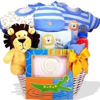 """""""Lion Heart"""" Personalized Baby Gift Basket"""