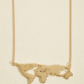 There's a Map for That Necklace in Gold
