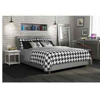 New Queen Grey Linen Upholstered Bed Luxury Furniture Fabric Frame Headboard