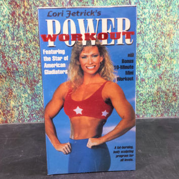 90s Lori Fetrick's Power Workout Exercise VHS Tape SEALED Vintage American Gladiators Fitness Step Aerobics Work Out Weight Training New NOS