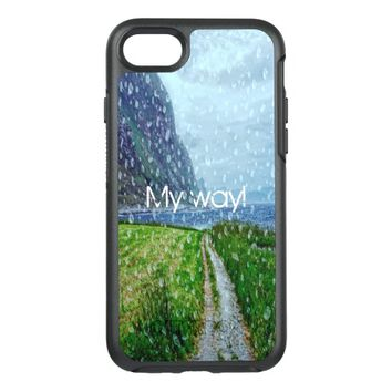 My way Country road to the ocean a rainy day OtterBox Symmetry iPhone 7 Case