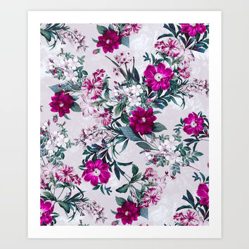 White Spring Art Print by RIZA PEKER