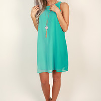 Picnic In The Park Shift Dress in Turquoise
