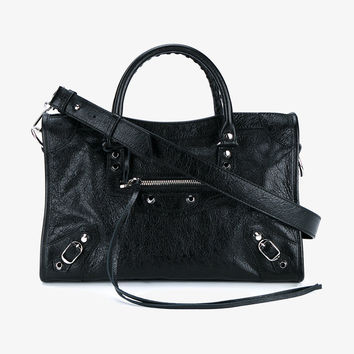 BLACK LEATHER CLASSIC CITY BAG