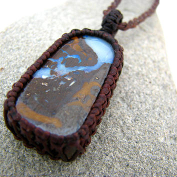 Australian Boulder Opal Necklace / Boulder Opal Jewelry / Opal / Fathers Day / Gift Idea / Australian opal / healing gemstones and crystals