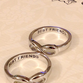 SAME DAY SHIPPING,  Infinity Ring Best Friends Infinity Ring, infinity sisters, best friend infinity ring, mom, sister, infinity symbol