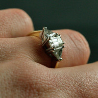 Vintage Emerald Cut Diamond Engagement Ring by Ruby Gray's | Ruby Gray's