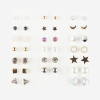 FULL TILT 20 Pairs Pearl/Stone Earrings | Earrings