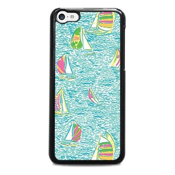 lilly pulitzer sailboat iphone 5c case cover  number 1