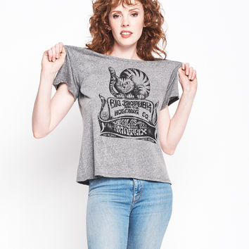 Cheshire Cat Boyfriend Tee - Heather Grey
