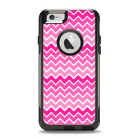 The Pink & White Ombre Chevron V2 Pattern OtterBox Commuter Case Skin Set (Other Models Available!)