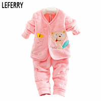 Flannel Newborn Baby Girls Clothes Set Baby Boy Clothes 2016 New Born Baby Clothing Set infant Clothing Spring Winter