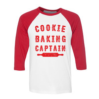 Cookie Baking Captain Baseball Tee