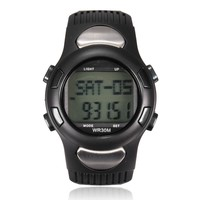 ELEGIANT Fitness 3D Sport Wrist Watch Pulse Heart Rate Monitor Pedometer Calories Counter