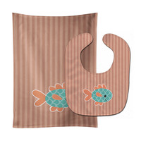 Fish Baby Bib & Burp Cloth BB7118STBU