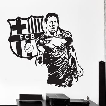 Wall Vinyl Decal Lionel Messi Sport Soccer Football FC Barcelona  Unique Gift z3821