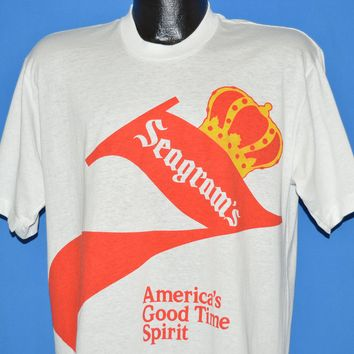 80s Seagram's 7 Crown Whiskey Deadstock t-shirt Large