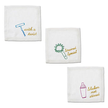 Bartenders Linen Cocktail Napkins Set | Home & Gift | New Arrivals | Categories | C. Wonder