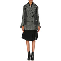 SACAI - Contrast-panel wool-blend jacket | Selfridges.com