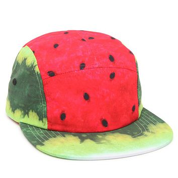 Neff Hard Fruit Camper 5 Panel Hat - Mens Backpack - Watermelon - One