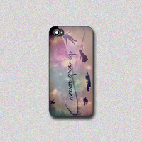 Peter Pan Never Grow Up - Print on Hard Cover for iPhone 4/4s, iPhone 5/5s, iPhone 5c - Choose the option in right side