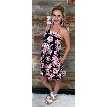 Only this Time Pocket Floral Dress