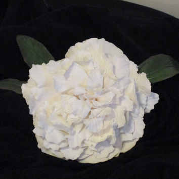 peony cake topper wedding bridal gumpaste sugar edible white pink red spring keepsake