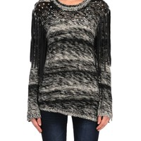 Blank NYC Knit Sweater w/ Fringe - Flying Colors