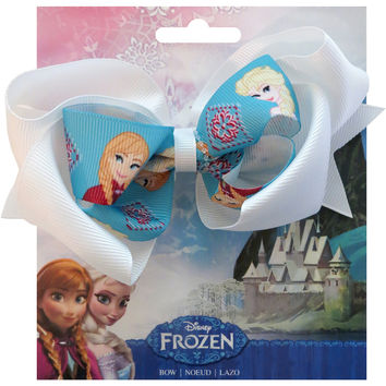 "Disney Frozen Grosgrain 1"""" Ribbon Hair Bows-Elsa & Anna"