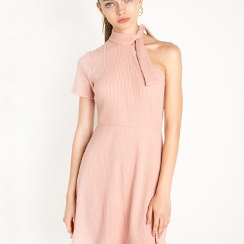 Sammy One Shoulder Knot Tie Dress