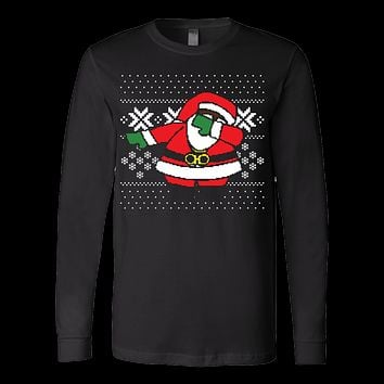 Ugly Dabbing Santa Christmas Sweater