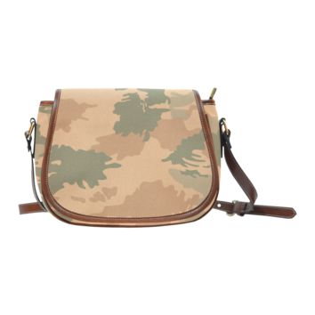 Women Shoulder Bag Desert Camo Saddle Bag Large