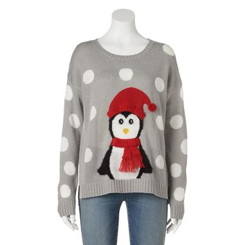its our time penguin ugly christmas sweater juniors
