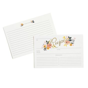 Peony Recipe Cards by RIFLE PAPER Co.   Made in USA