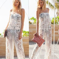 Women's Fashion Hot Sale Lace Jumpsuit [10483348429]