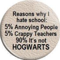 Reasons why I hate School 125 Metal pin by MyHeavenlyGreetings